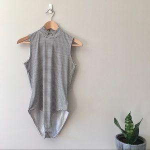 H&M | striped bodysuit, M